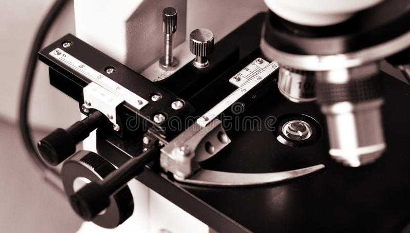 Download Microscope stage stock photo. Image of laboratory, knobs - 20130858