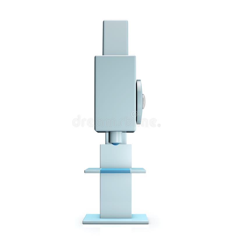 Microscope sur le fond blanc illustration de vecteur