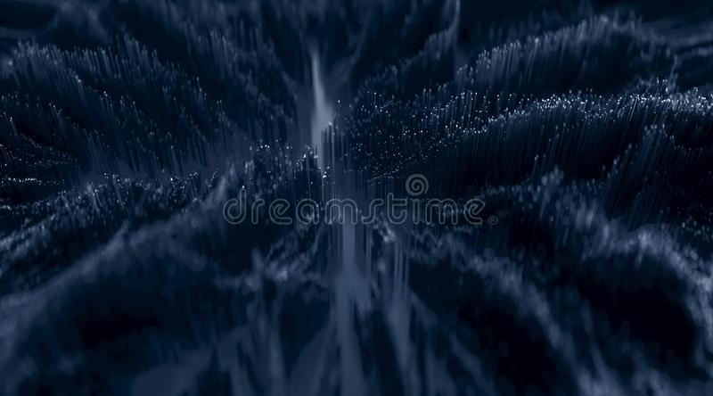 Microscopic closeup concept of small cubes stock photography