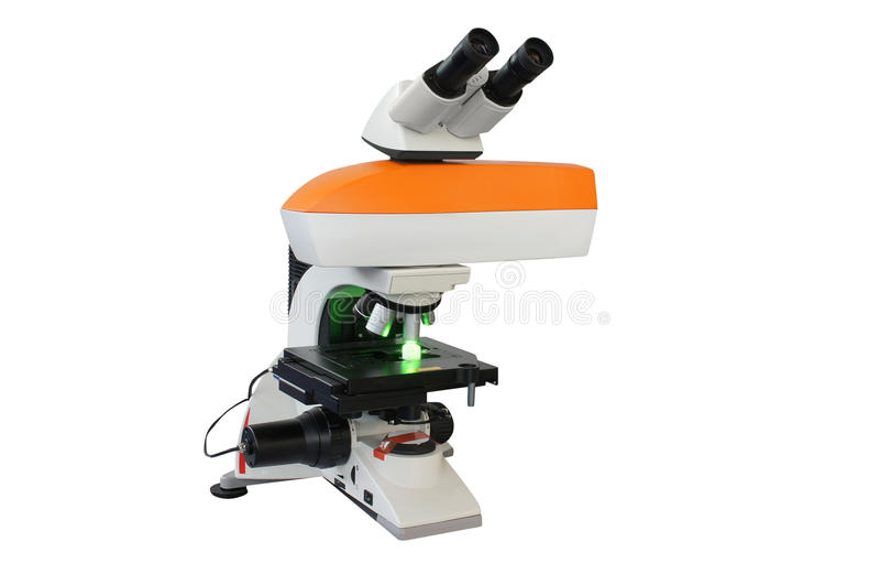 Download Microscopio fotografia stock. Immagine di isolato, analisi - 30830906