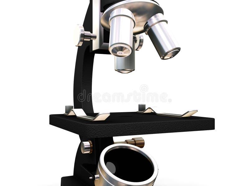 Microscopio stock de ilustración