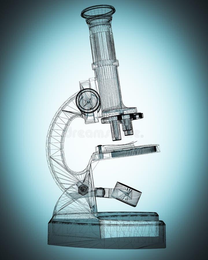 Microscopio científico medicina imagen de archivo