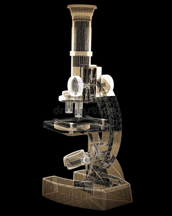 Microscopio científico medicina imagen de archivo libre de regalías
