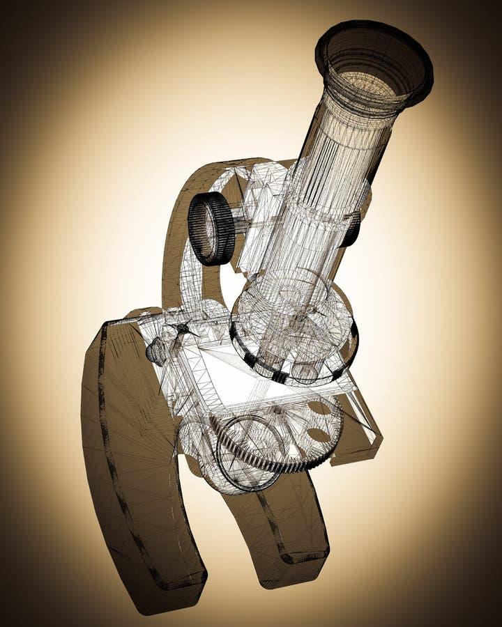 Microscopio científico medicina libre illustration