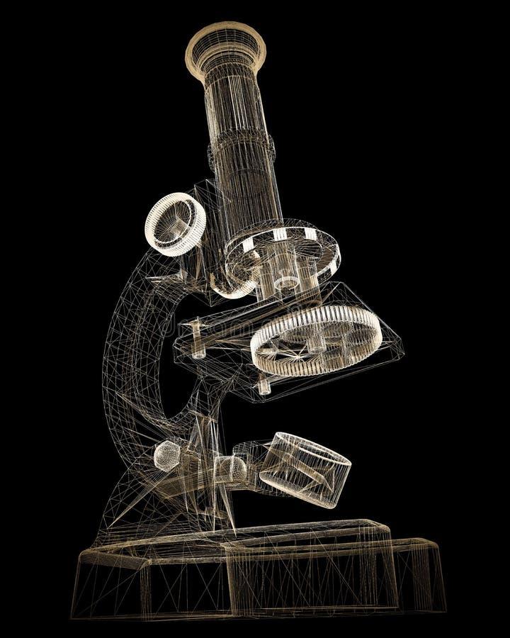 Microscopio científico medicina imagenes de archivo