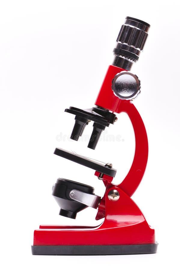 Microscopio rosso immagine stock libera da diritti