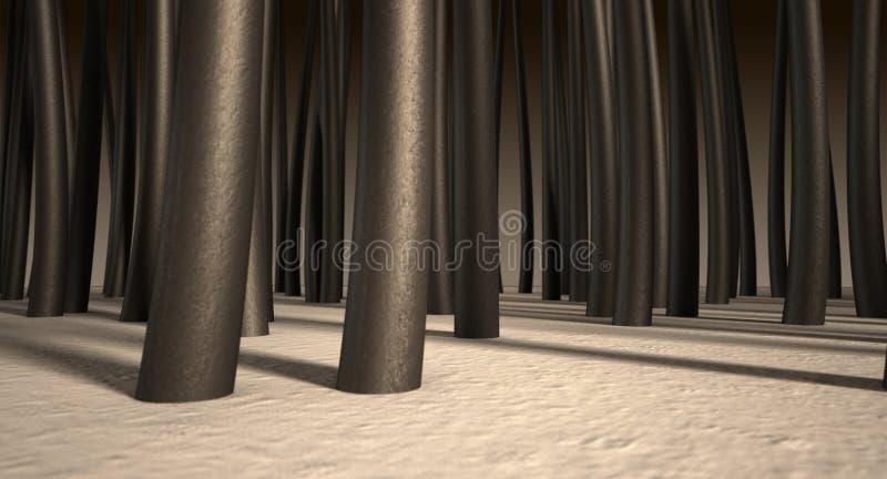 Microscopische Haarwortels royalty-vrije stock foto