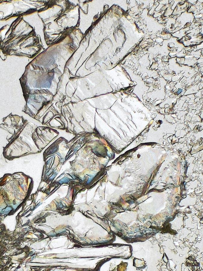 Microscopische kristallen royalty-vrije stock afbeeldingen