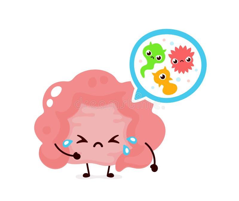 Microscopische slechte bacterias micro-flora, virussen vector illustratie