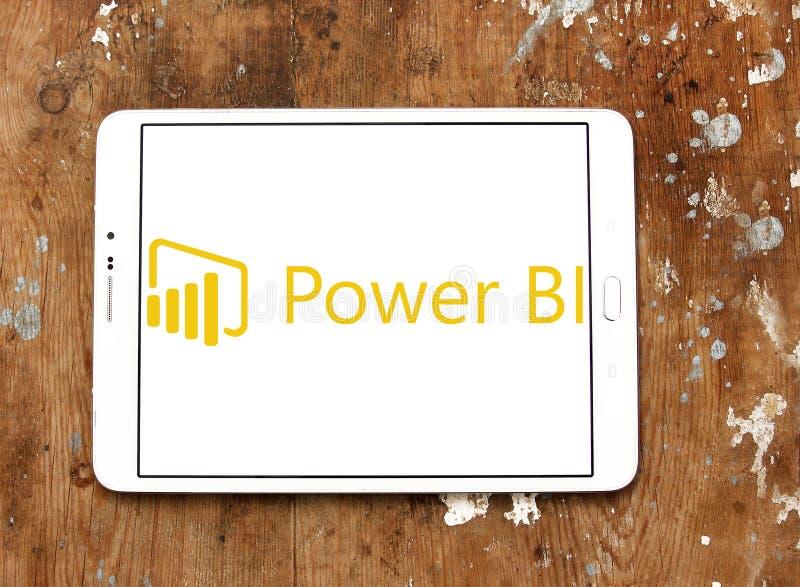Microsoft alimenta il logo della BI immagine stock