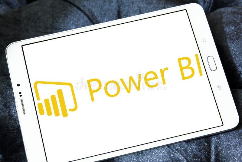Microsoft alimenta il logo della BI fotografie stock libere da diritti