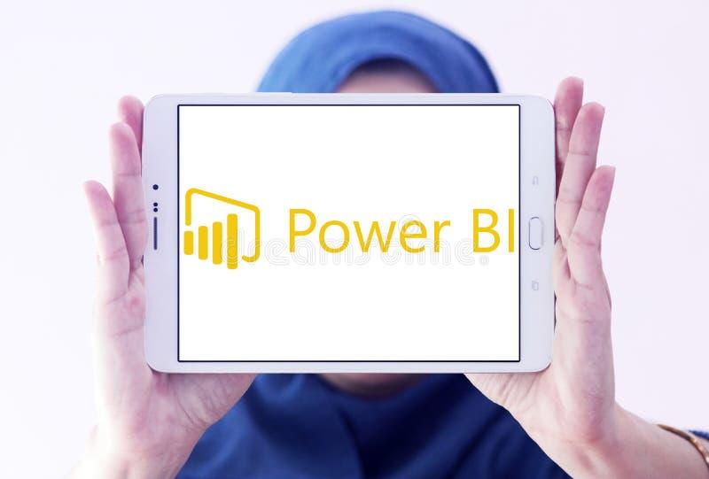 Microsoft alimenta il logo della BI immagine stock libera da diritti