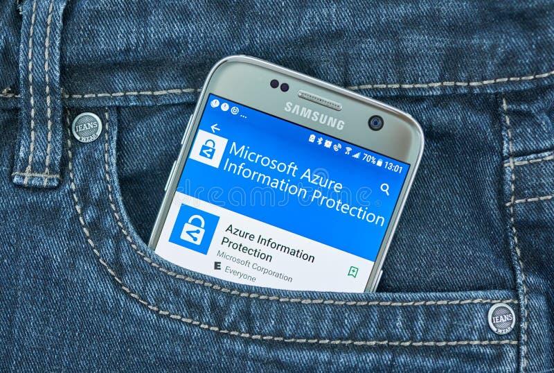 Azure App Service Companion Mobile App On Samsung S8  Editorial
