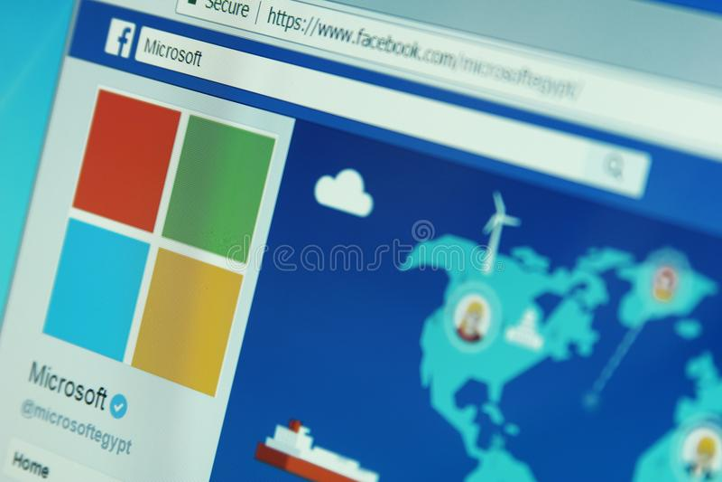 Microsoft-bedrijf facebook stock fotografie