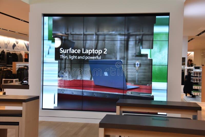 Microsoft-Besucherzentrum am Hauptsitz in Redmond, Washington lizenzfreies stockbild