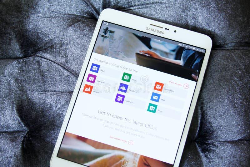 Microsoft-bureau apps royalty-vrije stock foto