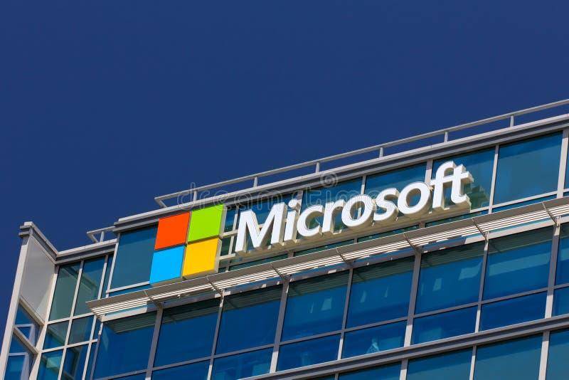 Microsoft byggnad royaltyfri fotografi