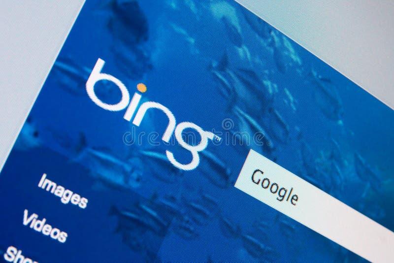 Microsoft contra Google imagens de stock
