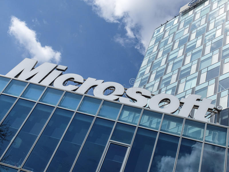 Microsoft-de bureaubouw stock afbeeldingen