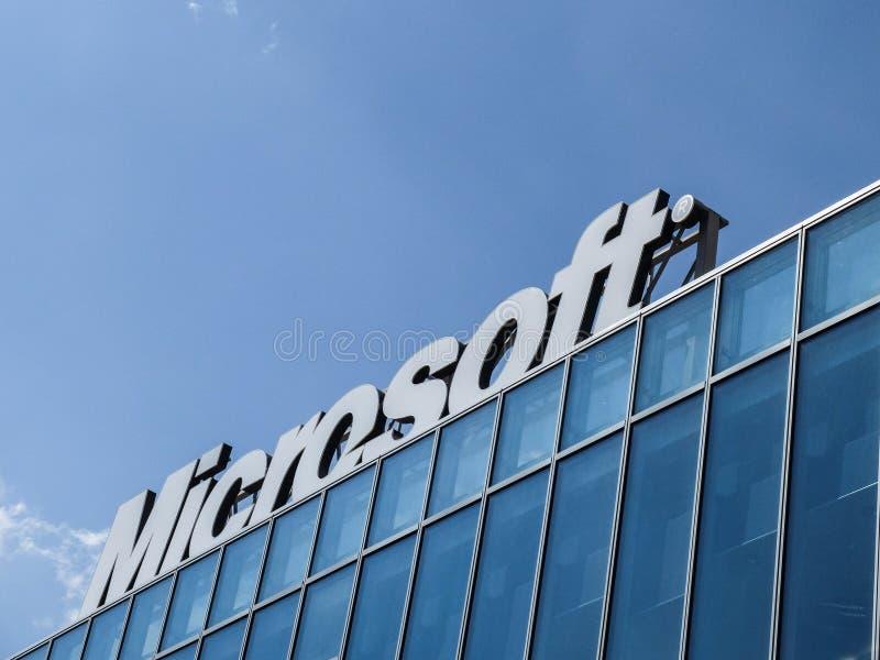 Microsoft-de bureaubouw royalty-vrije stock fotografie