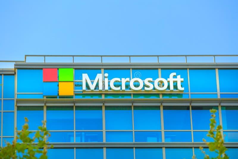 Microsoft-de Embleembouw stock afbeeldingen