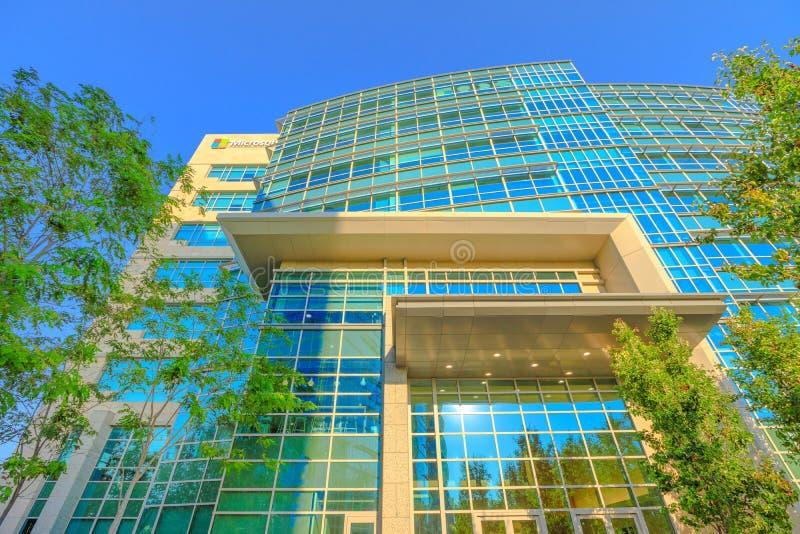 Microsoft die Sunnyvale bouwen stock foto's