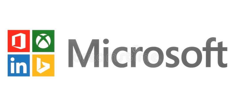 Microsoft et ses propres marques sur le livre blanc illustration stock