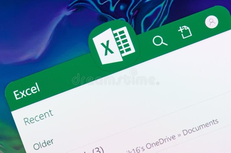 Microsoft Excel-Anwendung lizenzfreie stockfotografie
