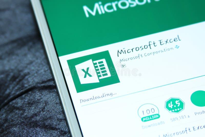 Microsoft Excel app móvil imagenes de archivo