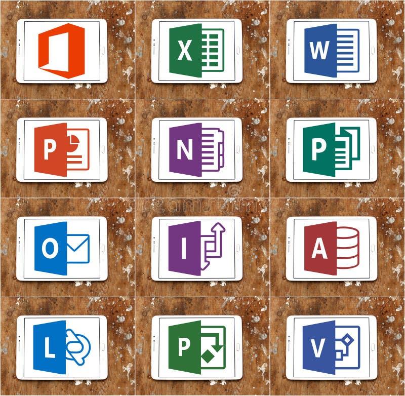Microsoft-het bureauwoord, blinkt, Power Point uit stock afbeelding