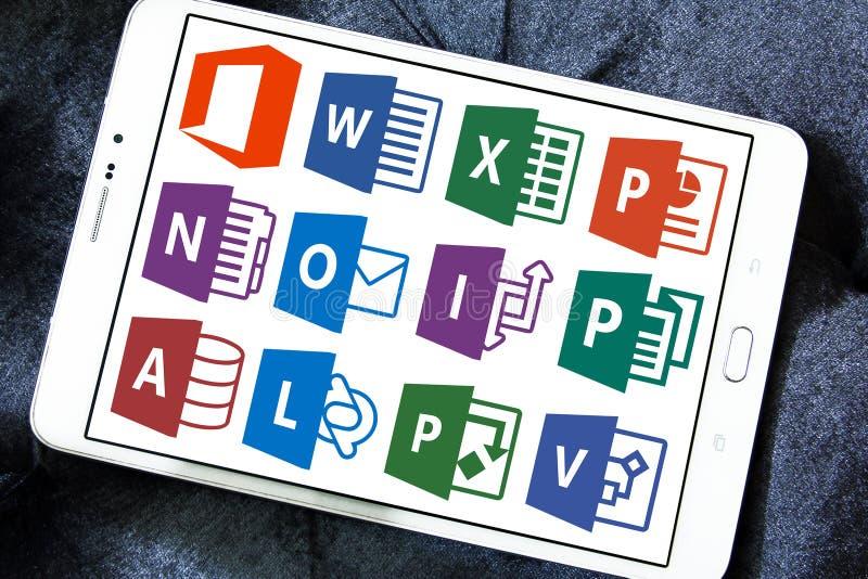 Microsoft-het bureauwoord, blinkt, Power Point uit stock foto