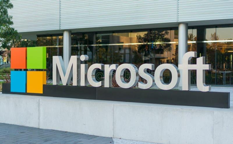 Microsoft korporacyjny budynek w Silikonowej dolinie obraz royalty free