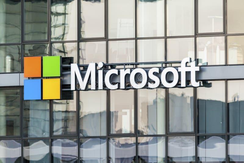 Microsoft na água de Colônia, Alemanha imagens de stock royalty free
