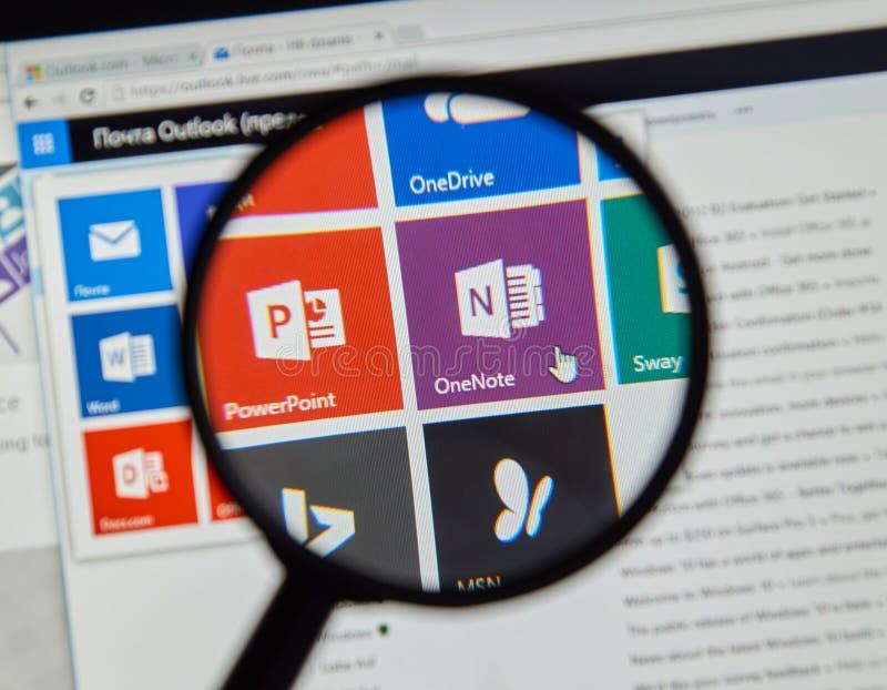 Microsoft Office Één Nota stock afbeelding