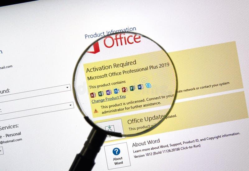 Microsoft Office 2019 στοκ φωτογραφίες με δικαίωμα ελεύθερης χρήσης