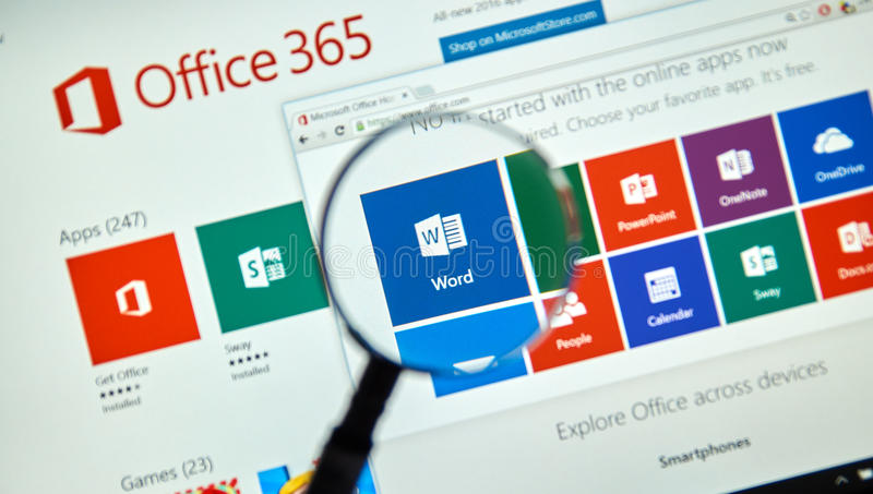 Microsoft Office 365 stockfotografie