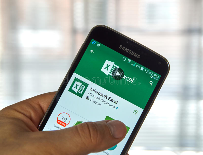 Microsoft Office Delve Mobile Application On Screen Of Samsung