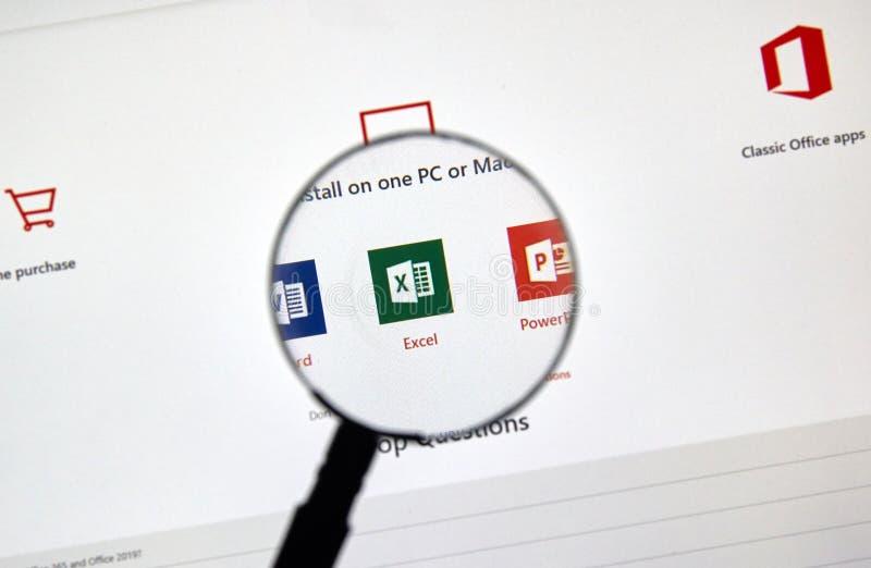 Microsoft Office 365 pictogrammen stock foto's