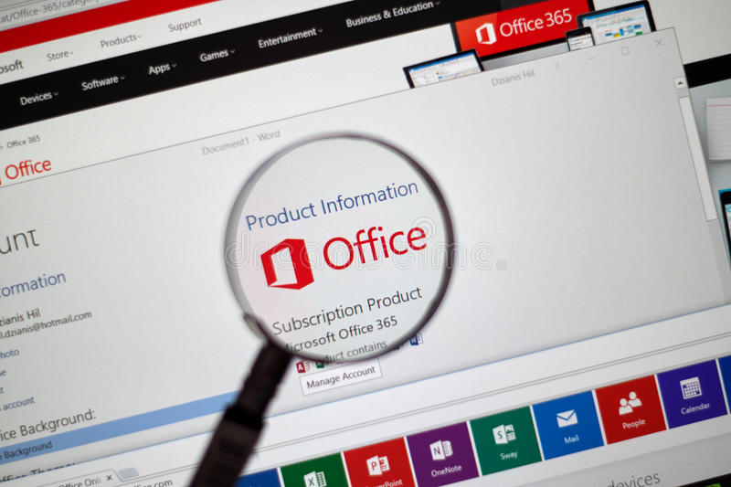 Microsoft Office Word, Excel images stock