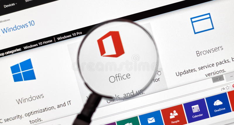 Microsoft Office Word, Excel. stock photos