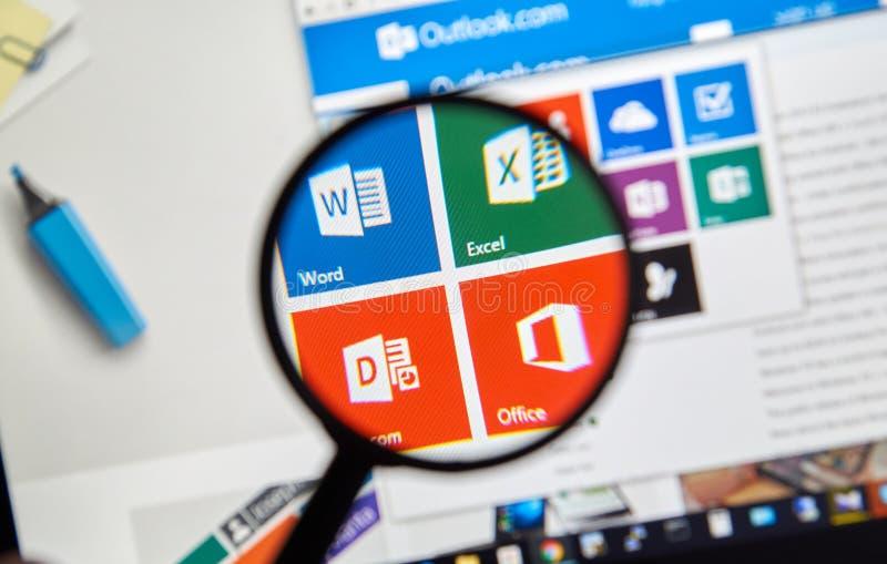 Microsoft Officeord, Excel royaltyfria foton