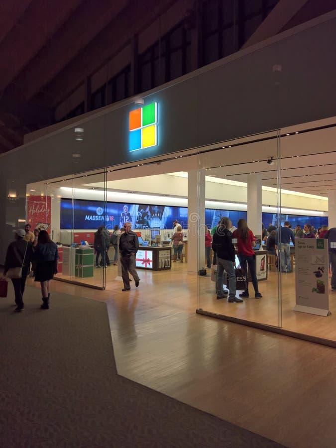Microsoft-Opslag, Black Friday op Dankzegging 2017 royalty-vrije stock foto's