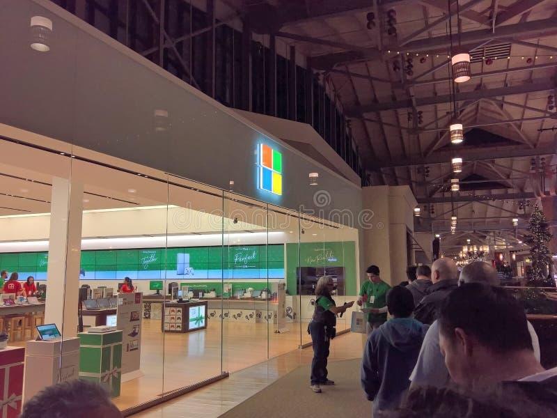 Microsoft-Opslag, Black Friday op Dankzegging 2017 stock fotografie