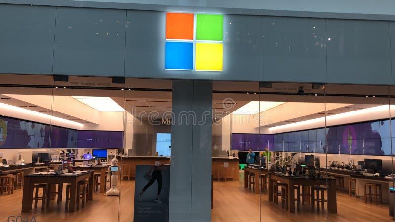 Microsoft-opslag stock foto