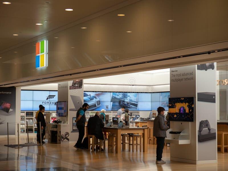 Microsoft-opslagplaats in San Francisco stock foto