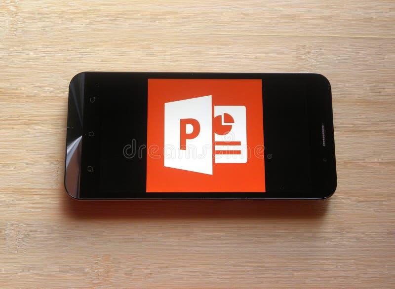 Microsoft PowerPoint app royalty-vrije stock foto