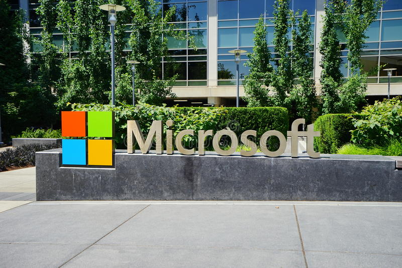 Microsoft sedia imagens de stock