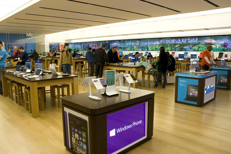 Microsoft speichern lizenzfreie stockfotografie