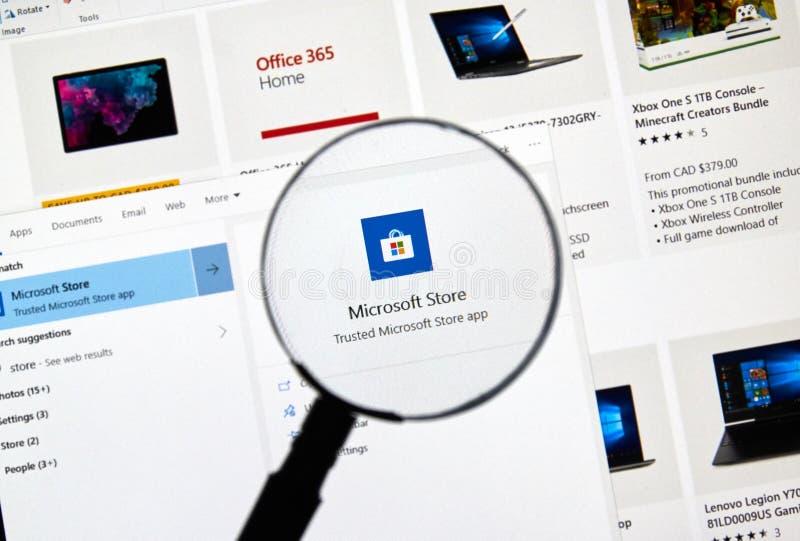 Microsoft Store app royalty-vrije stock afbeeldingen