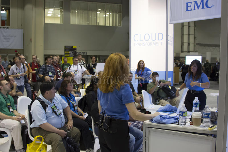 Microsoft TechEd konferens 2012 arkivbild